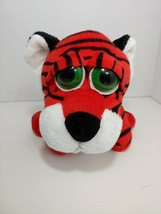 Russ Berrie Plush vintage Triggles Tiger orange white black big green eyes - $24.74