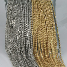 18K GOLD ROPE CHAIN, BRAID ROPE CORD, NECKLACE MADE IN ITALY, 18KT BRIGHT SHINY image 2
