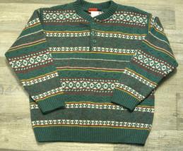 Vintage Gymboree Boys Sweater Holiday Green Stripe NWT Wool Size 5-6 XL - $25.99