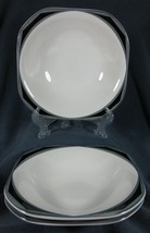 Sango Sensation Gray 5112 Lot of 3 Coupe Soup Bowls Quadrille Wendy Klein - $21.95