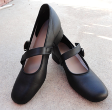 Round or Square Dancing Shoes Womens 8.5 B Black Mary Janes Synthetic Upper - $28.99