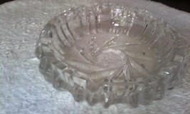 "Queen Lace Czech Bohemian Hand Cut lead crystal 7.5"" Ashtray - $111.69"