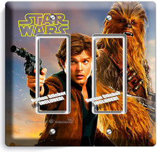 A Star Wars Han Solo Story Chewbacca Falcon Pilot 2 Gang Gfci Light Switch Plate - $11.69