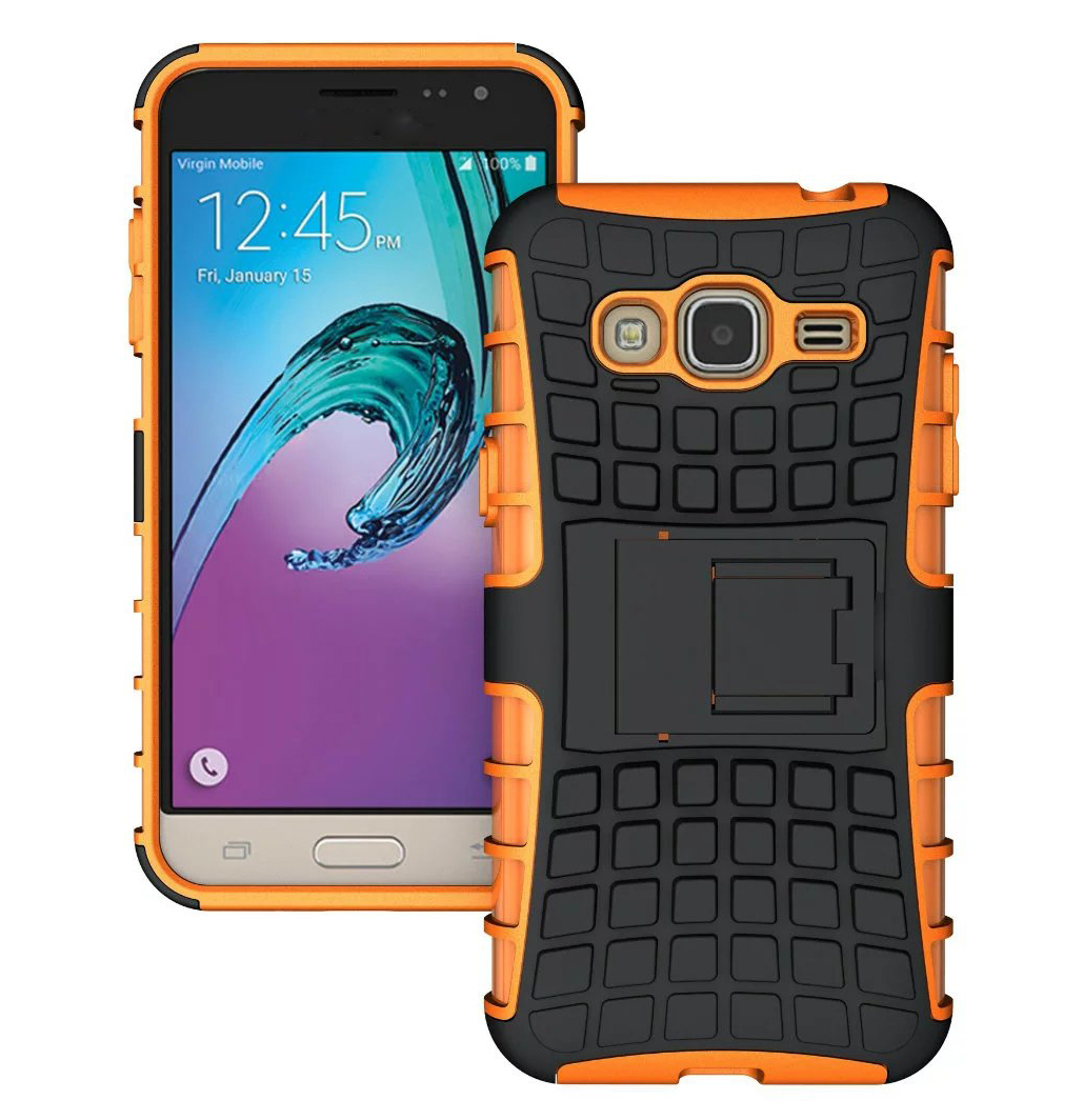 Armor defender rugged dual layer case cover for samsung galaxy j3 2016 orange p20160525014824885