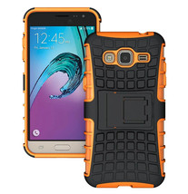 Defender Rugged Dual Layer Case Cover For Samsung Galaxy J3 (2016) - Ora... - $4.99