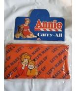 Vintage Deadstock 1982 Little Orphan Annie Film Carry All Zip Makeup Bag... - $29.65