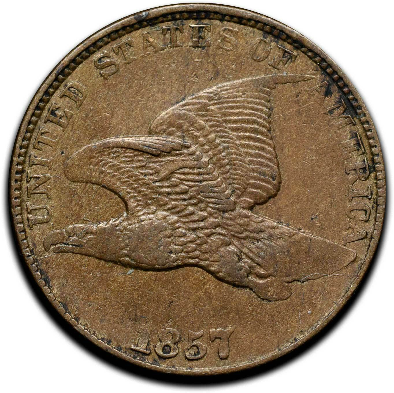 1857 Flying Eagle Head Cent Penny Coin Lot# A 334