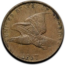 1857 Flying Eagle Head Cent Penny Coin Lot# A 334 image 1