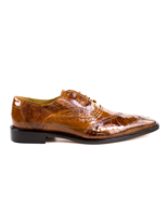 Belvedere New Exotic Mens shoes Nino Camel Ostrich Eel Leg lace Up Dress... - £352.54 GBP