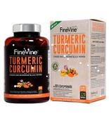 FineVine Turmeric Curcumin BioPerine Black Pepper & Ginger 120 caps NON GMO - $17.81