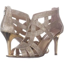 Marc Fisher Nala3 Strappy Dress Sandals 692, Gold Multi, 8.5 US - $25.91