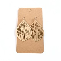 Filigree Metal Earrings, Gold Filigree Earrings, Gold Mesh Teardrop Earrings