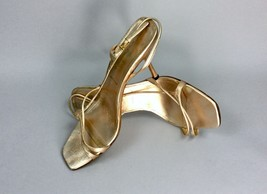 PRADA Rose Gold Genuine Leather Heels Strap Women's Sandals Shoes EU Size 38 1/2 - $118.79