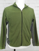 EDDIE BAUER Full-Zip Fleece Jacket - Mens Size Small - Olive Green/Gray - $22.76