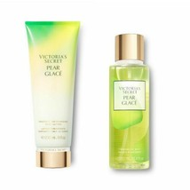 2 Pc Victoria's Secret Limited Ed Pear Glace Fragrance Mist & Lotion Set New - $32.71