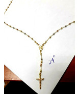 Rosary 14k Gold  Lady Of Guadalupe Necklace  ON SALE THIS WEEK - $748.44