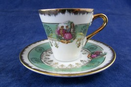 Sonsco Japan Demitasse cup and saucer The courting couple - $17.82