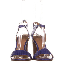 Coach Lexey Ankle Strap Sandals 481, Blue Snake, 9.5 US - $47.03
