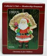 Carlton Cards Christmas Is For Children Santa Christmas Ornamnent - $20.00