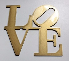 """LOVE """"Boxed """" Gold Home Wall Decor - $9.99"""