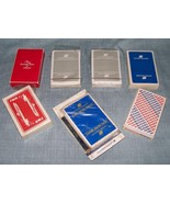 Vintage Airline Playing Cards- TWA , United Airlines, American - Set of 7 - $8.95