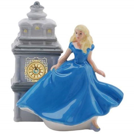 Disneys Cinderella When The Clock Strikes Midnight Ceramic Salt & Pepper Shakers