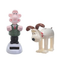 WALLACE and GROMIT Clay Animation Heroes SOLAR Power Moving Home Decor F... - $12.79+