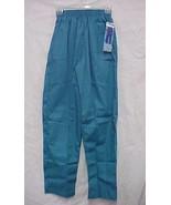 Teal Scrub Pants Small Topline Uniforms TL200 Full Elastic Waist Side Pk... - $13.55