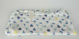 Ideal baby Aden + and Anais Blue White Yellow Sailboat Boy Muslin Blanket - $24.74