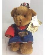 Vintage Gund Best Friends TEDDY BEAR Stuffed Plush Animal Denim Overall ... - $32.54