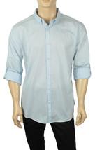 New Calvin Klein Slim Fit Convertible Sleeve Blue Slub Button Front Shirt 2XL - $28.99