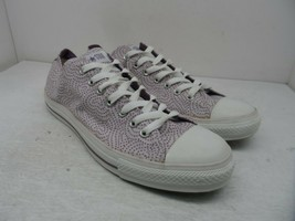 Converse Women's Low Chuck Taylor All Star Casual Shoes Purple Hearts Size 14M - $56.99