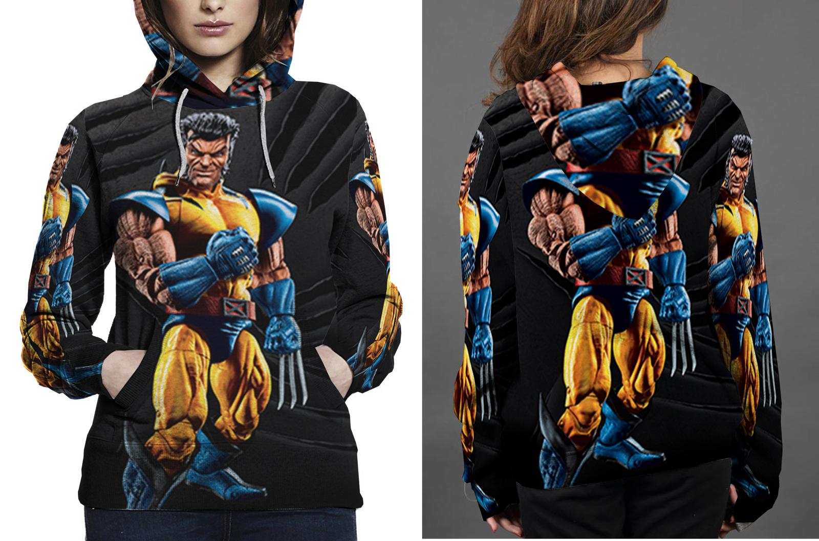 Marvel legends wolverine unmasked figure hoodie women s