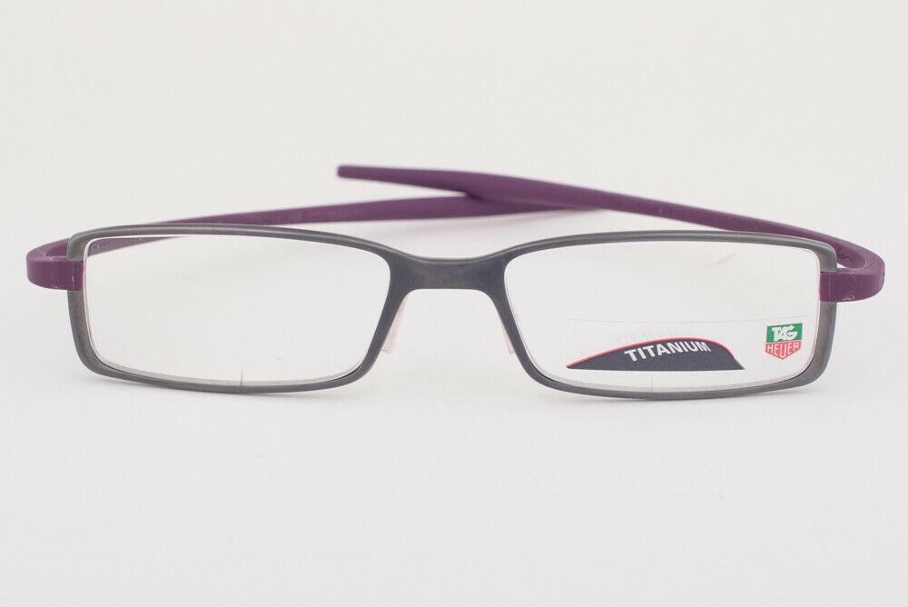 Tag Heuer 3703 006 Reflex Anthracite Violet Titanium Eyeglasses 3703-006 54mm