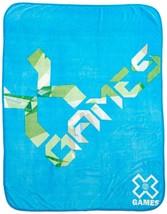 ESPN X Games Fleece Throw Blanket Bedroom Bedding Warm Soft Cozy Blue - $15.95