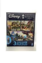 Thomas Kinkade Disney Princesses Minnie 3-in-1 550-750 pc Jigsaw Puzzles New - $29.69