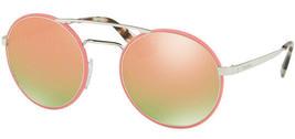 Prada Women's Vintage Round Sunglasses w/ Mirror Lens PR 51SS VHU5L2 54 - Italy - $129.99