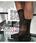 Used Mens Sheer Socks Nylon Black NonTNT, Reinforced Toe, Cap Heel, Ankl... - $5.00