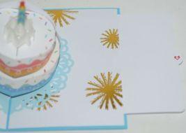 Lovepop LP2552 Rainbow Happy Birthday Cake Pop Up Card White Envelope image 4