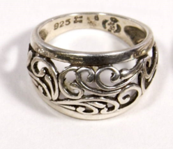 Early .925 Sterling Silver Scroll Design Ring - $21.95