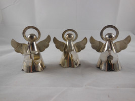 """Silver plate Angel Christmas Ornament 2 1/2"""" tall in very nice condition scallop - $17.81"""