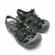 KEEN, Gray & Green Plastic Waterproof Water Sport Sandals, Youth Size 1 - $19.75