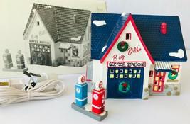 Dept 56 Snow Village Service Station Lighted Building & Gas Pump 1989  5... - $48.37