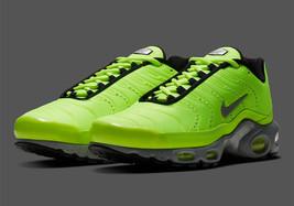 Nike Air Max Plus Premium Volt/Matte Silver-Wolf Grey-Black Shoes - $168.23
