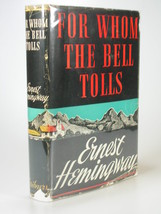 1940 ERNEST HEMINGWAY For Whom the Bell Tolls HB DJ early reprint - $84.99