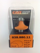 "CMT 838.880.11 Round Over Router Bit, 1/2"" Shank, 1/2"" Radius,  Made in Italy - $28.32"