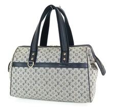 Authentic LOUIS VUITTON Josephine GM Blue Mini Lin Hand Bag Purse #33543 - $349.00