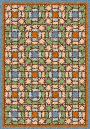 Latch Hook Rug Pattern Chart: WINDOWPANE QUILT- EMAIL2u
