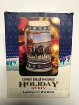 1995 Budweiser Holiday Stein Lighting The Way Home Authenticity Certificate - $17.39