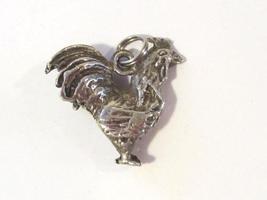 Vintage sterling silver 3D Rooster pendant - $16.00